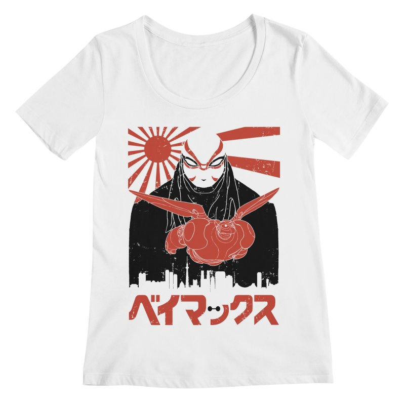 Big Hero Shirt Women's Scoopneck by JailbreakArts's Artist Shop