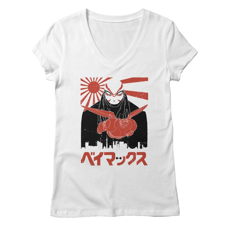 Big Hero Shirt Women's V-Neck by JailbreakArts's Artist Shop