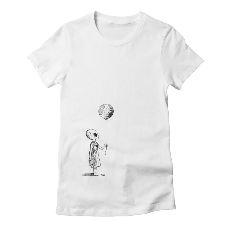 Dreaming Home 1 Women's Fitted T-Shirt by JailbreakArts's Artist Shop