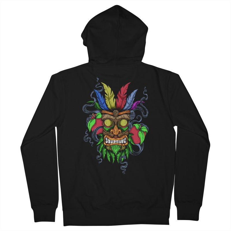 Give Me Another Chance - Aku Aku's Mask Men's Zip-Up Hoody by JailbreakArts's Artist Shop