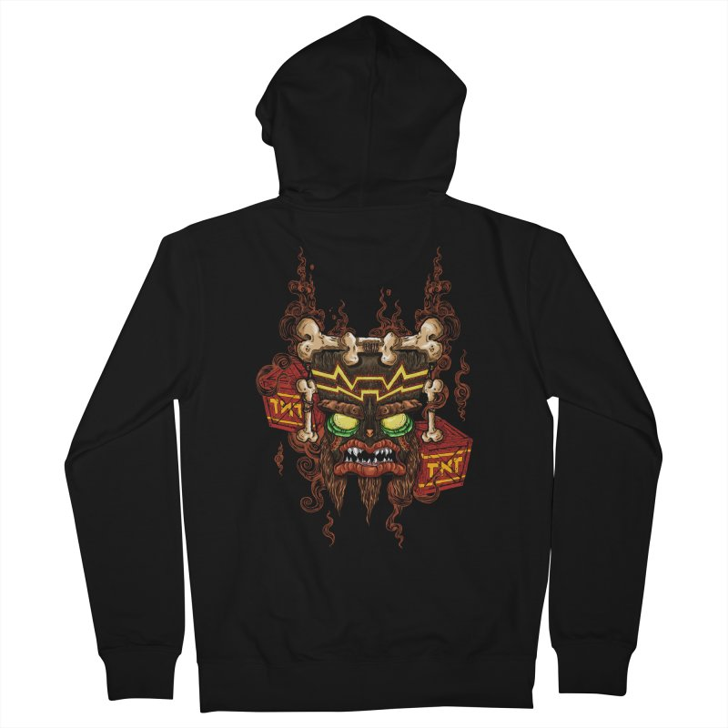 This Was Your Last Chance - Uka Uka's Mask Men's Zip-Up Hoody by JailbreakArts's Artist Shop