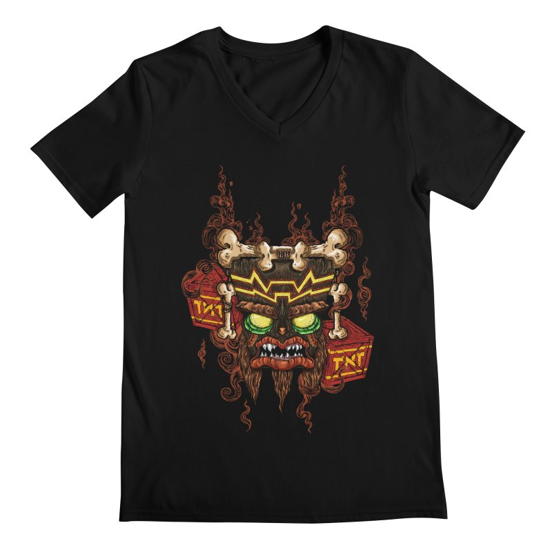 This Was Your Last Chance - Uka Uka's Mask Men's V-Neck by jailbreakarts's Artist Shop