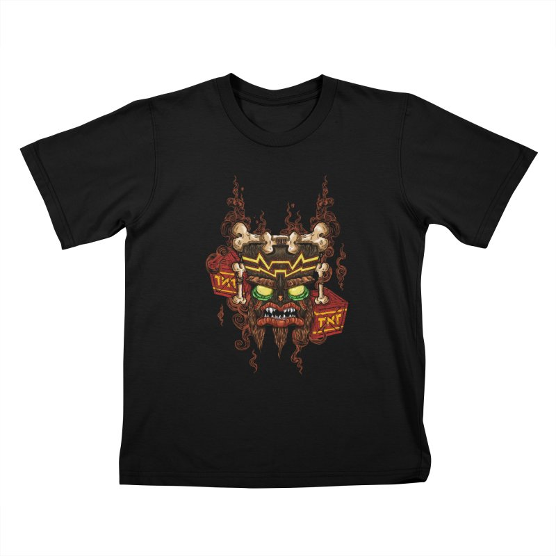 This Was Your Last Chance - Uka Uka's Mask Kids T-shirt by JailbreakArts's Artist Shop