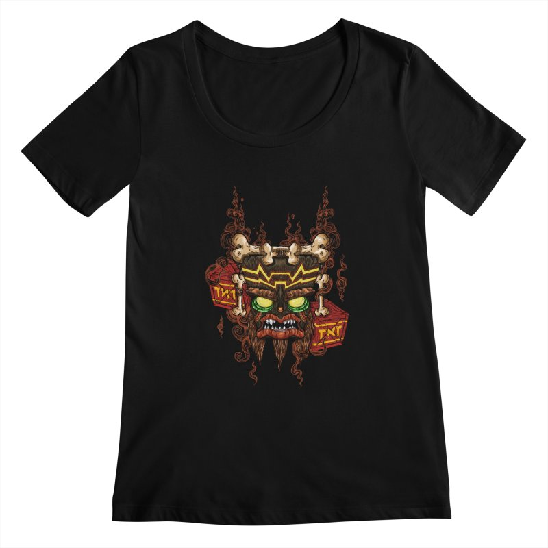 This Was Your Last Chance - Uka Uka's Mask Women's Scoopneck by jailbreakarts's Artist Shop
