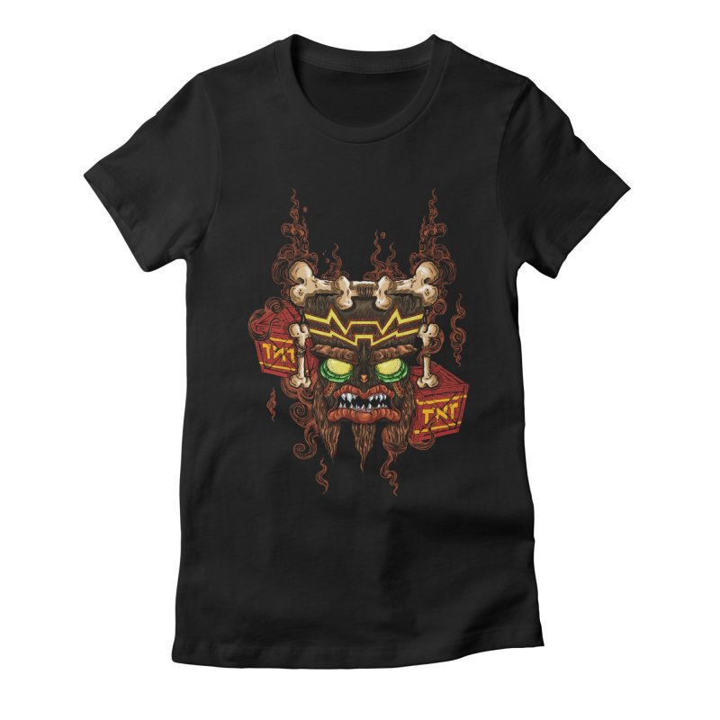 This Was Your Last Chance - Uka Uka's Mask Women's Fitted T-Shirt by jailbreakarts's Artist Shop