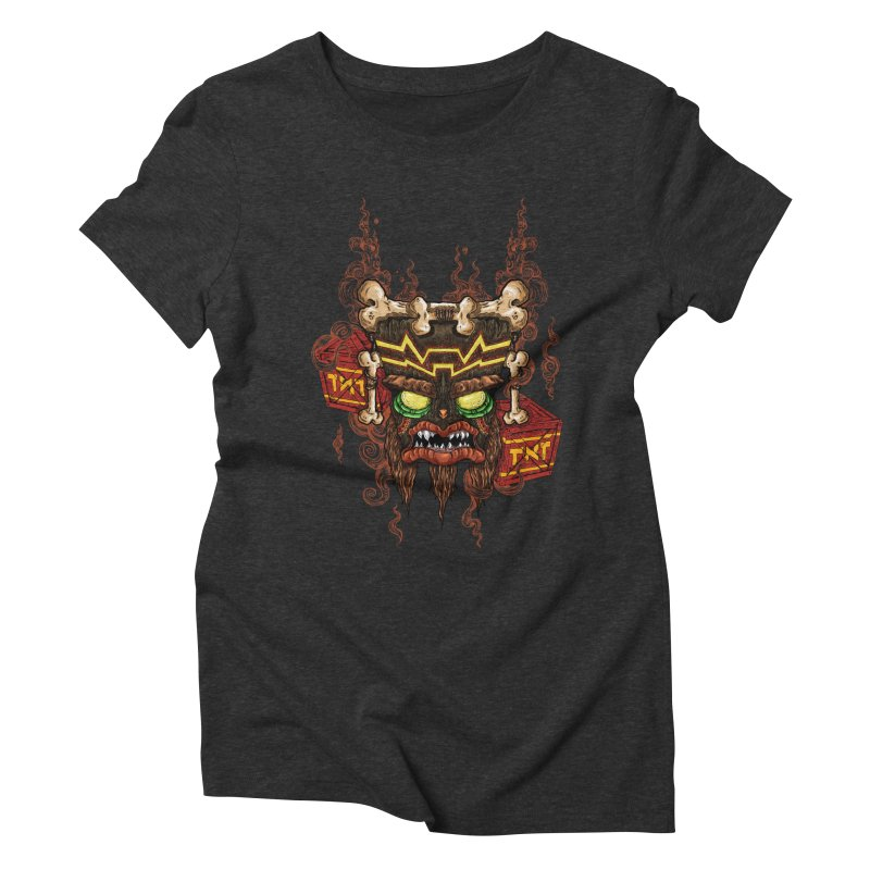 This Was Your Last Chance - Uka Uka's Mask Women's Triblend T-shirt by jailbreakarts's Artist Shop