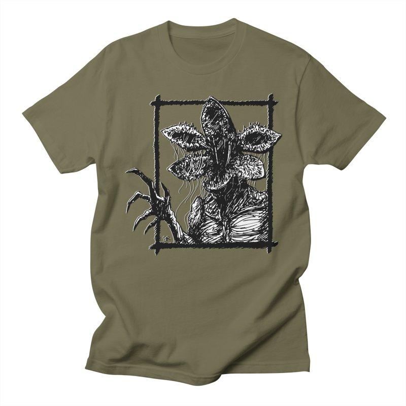Demogorgon in Men's Regular T-Shirt Olive by JaimeRamirezArt's Shop