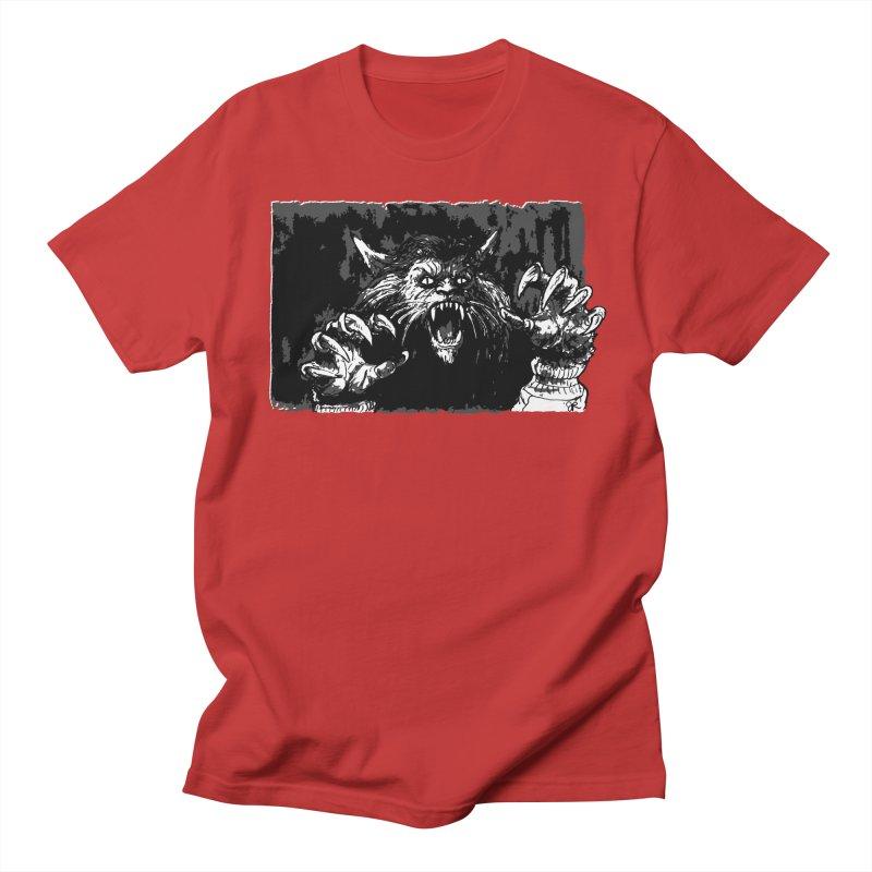 Werewolf in Men's Regular T-Shirt Red by JaimeRamirezArt's Shop
