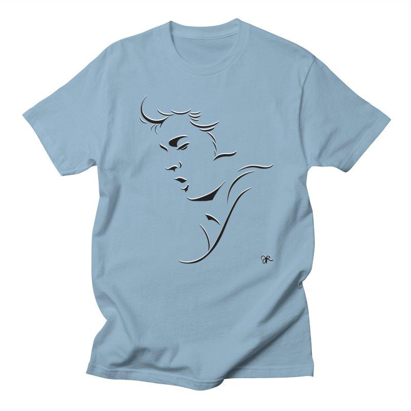 The King in Men's Regular T-Shirt Light Blue by JaimeRamirezArt's Shop
