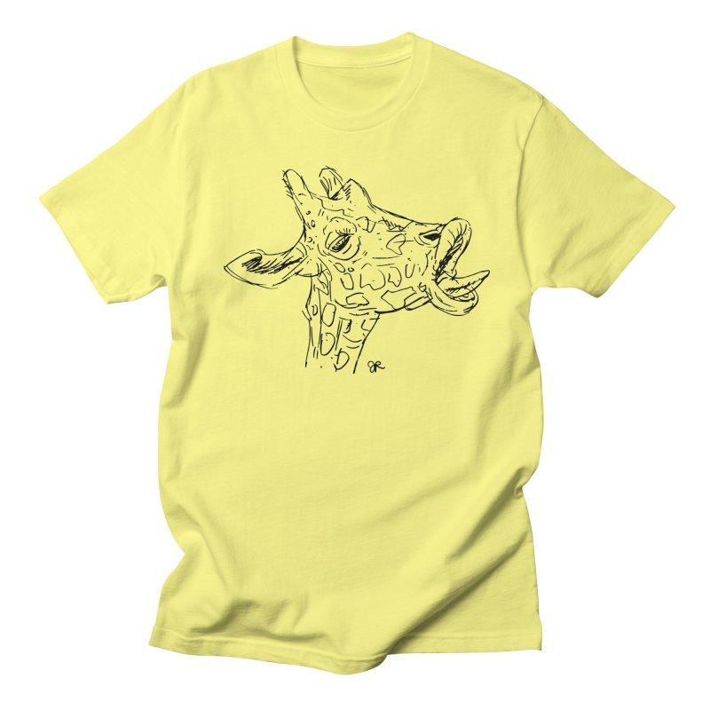 Giraffe Sketch in Men's Regular T-Shirt Lemon by JaimeRamirezArt's Shop