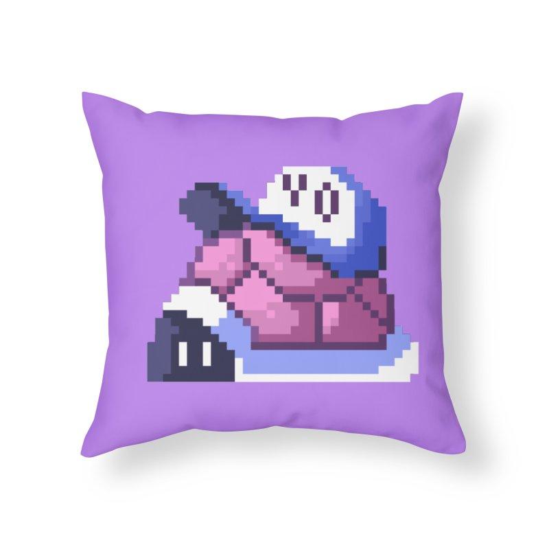 Hip Turtle Home Throw Pillow by Art of Jaime Ugarte