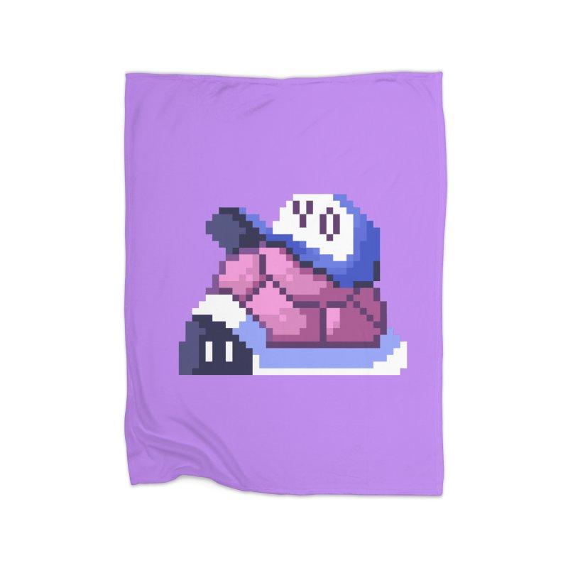 Hip Turtle Home Blanket by Art of Jaime Ugarte