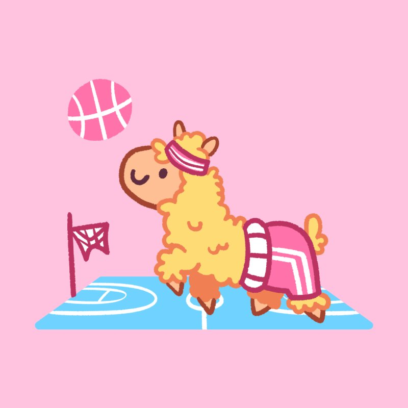 Sporty Llama None  by Art of Jaime Ugarte
