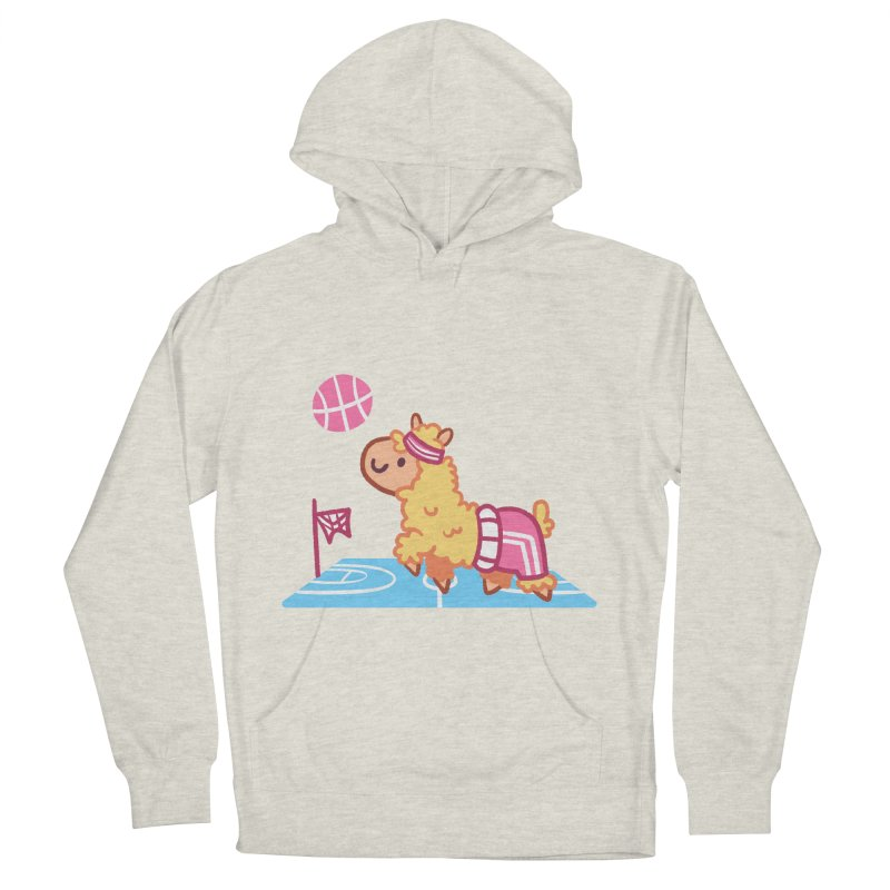Sporty Llama Women's Pullover Hoody by Art of Jaime Ugarte