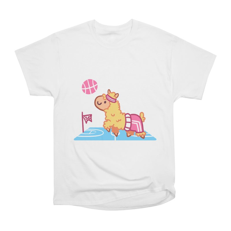 Sporty Llama Men's Heavyweight T-Shirt by Art of Jaime Ugarte