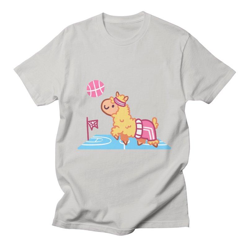 Sporty Llama Men's T-Shirt by Art of Jaime Ugarte