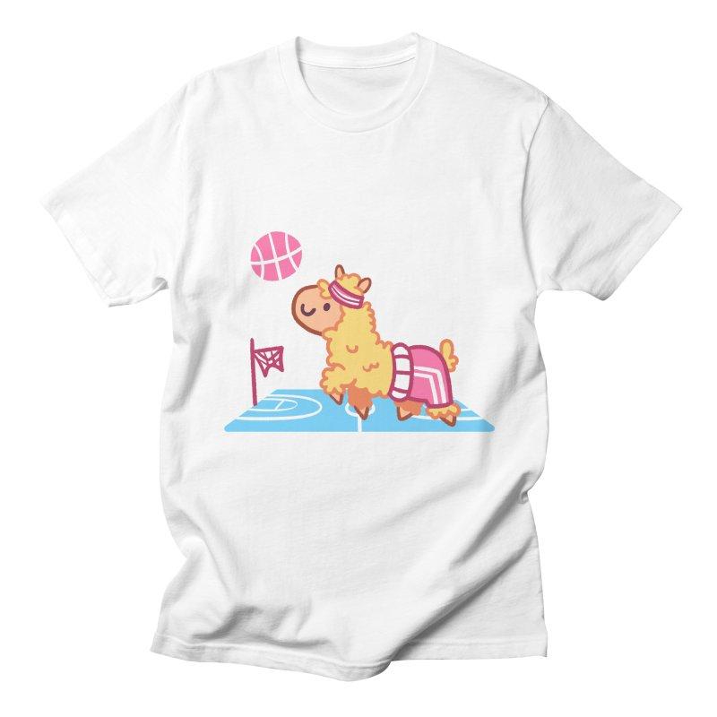 Sporty Llama Men's Regular T-Shirt by Art of Jaime Ugarte