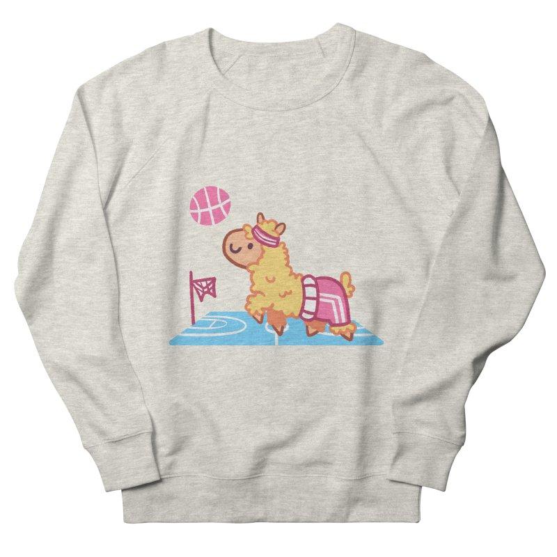 Sporty Llama Women's French Terry Sweatshirt by Art of Jaime Ugarte
