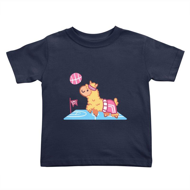 Sporty Llama Kids Toddler T-Shirt by Art of Jaime Ugarte