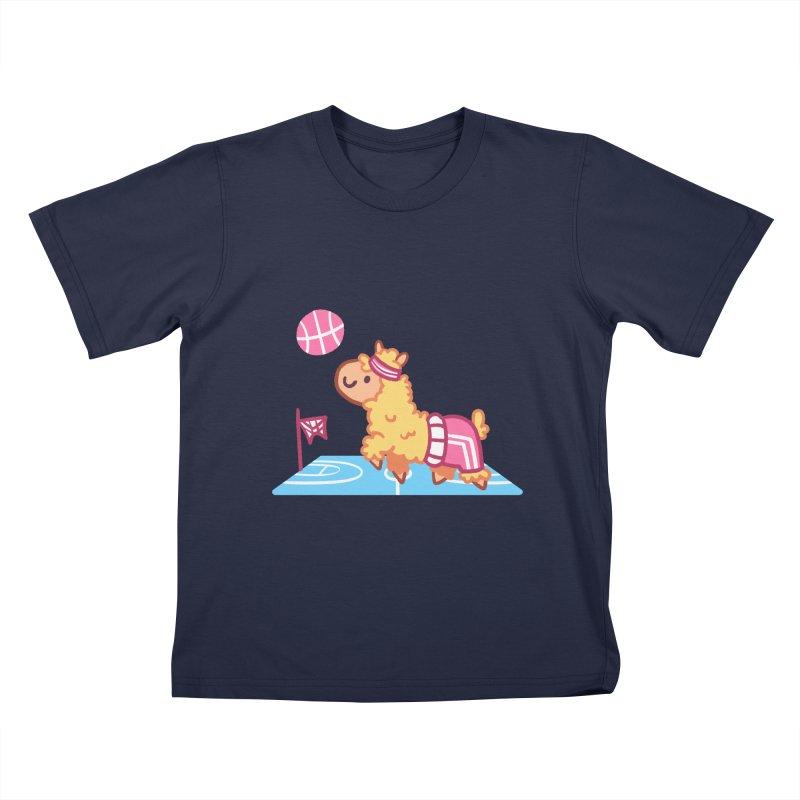 Sporty Llama Kids T-Shirt by Art of Jaime Ugarte