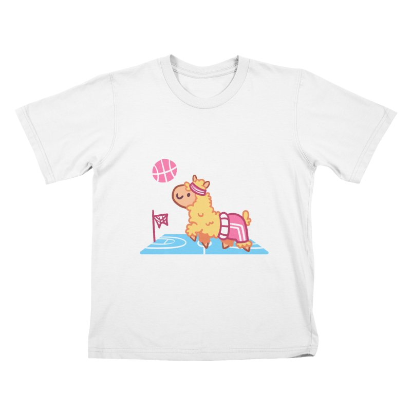 Sporty Llama Kids T-Shirt by Art of Jaime Ugarte