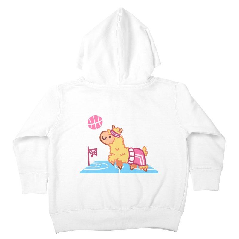 Sporty Llama Kids Toddler Zip-Up Hoody by Art of Jaime Ugarte