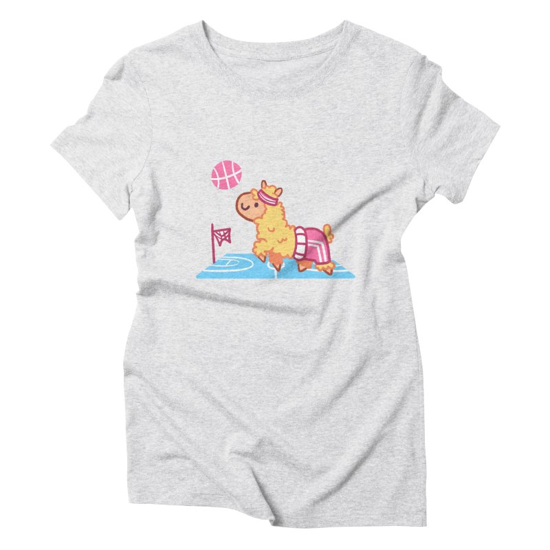 Sporty Llama Women's Triblend T-Shirt by Art of Jaime Ugarte