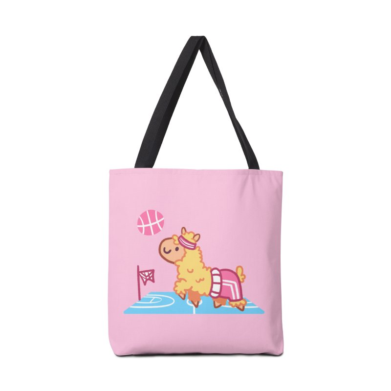 Sporty Llama Accessories Tote Bag Bag by Art of Jaime Ugarte