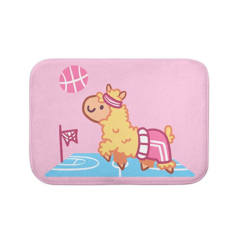 Sporty Llama Home Bath Mat by Art of Jaime Ugarte