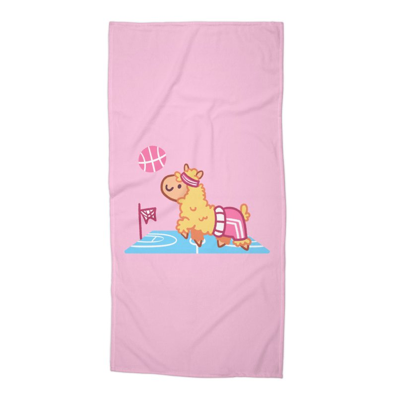 Sporty Llama Accessories Beach Towel by Art of Jaime Ugarte