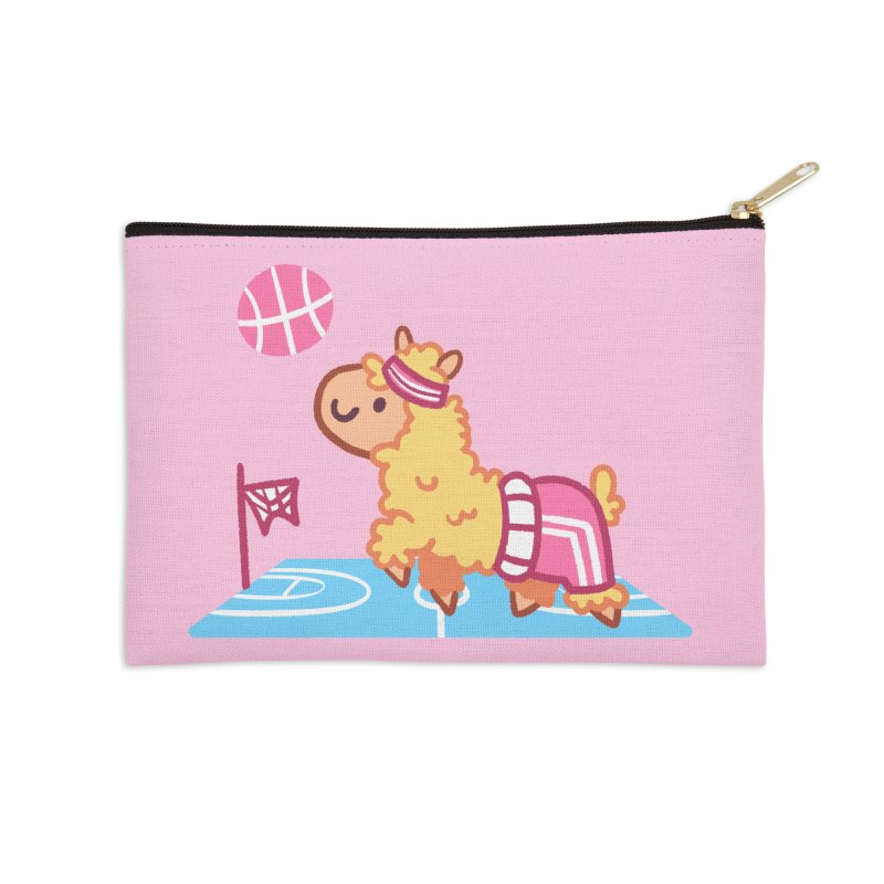 Sporty Llama Accessories Zip Pouch by Art of Jaime Ugarte