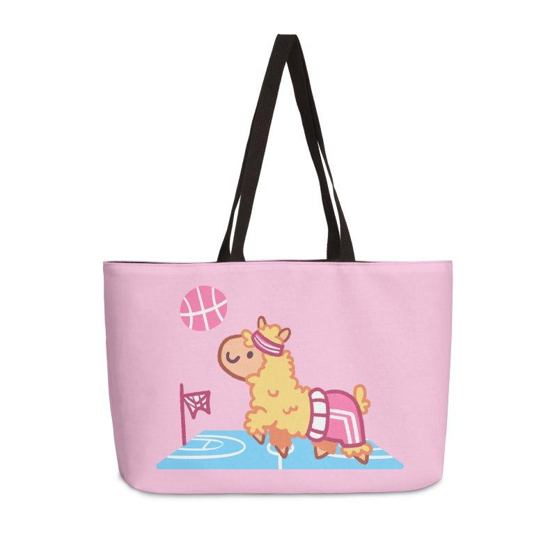 Sporty Llama Accessories Weekender Bag Bag by Art of Jaime Ugarte