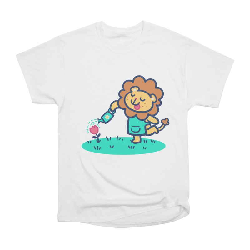 Landscaping Lion Men's Heavyweight T-Shirt by Art of Jaime Ugarte