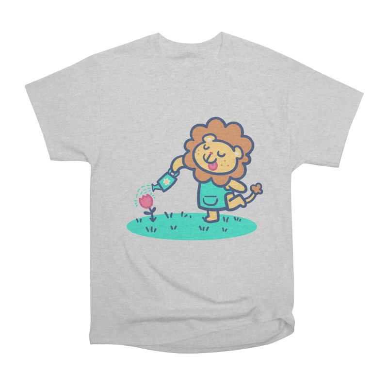 Landscaping Lion Women's Heavyweight Unisex T-Shirt by Art of Jaime Ugarte