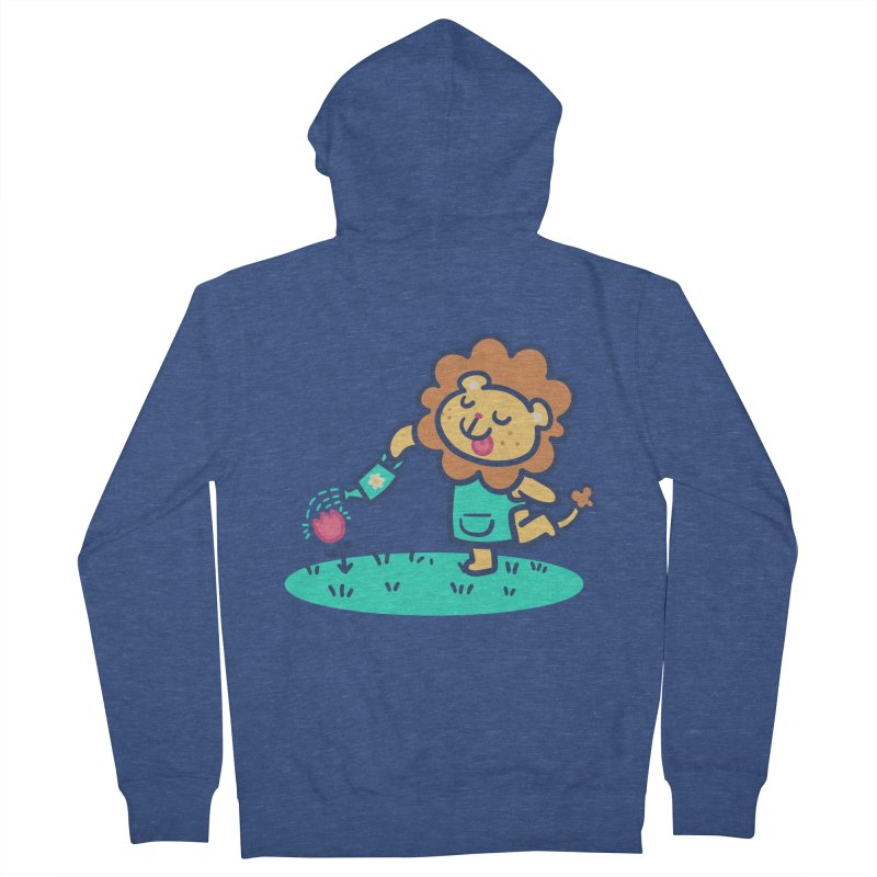 Landscaping Lion Men's Zip-Up Hoody by Art of Jaime Ugarte