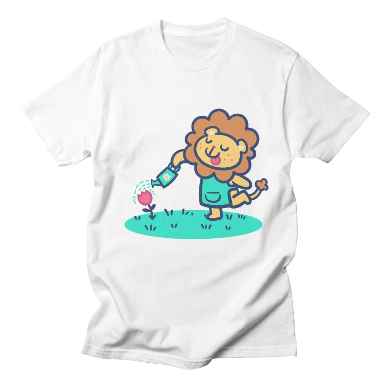 Landscaping Lion Women's Regular Unisex T-Shirt by Art of Jaime Ugarte