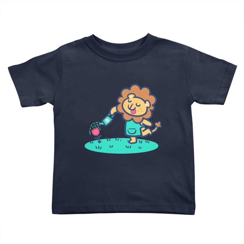 Landscaping Lion Kids Toddler T-Shirt by Art of Jaime Ugarte