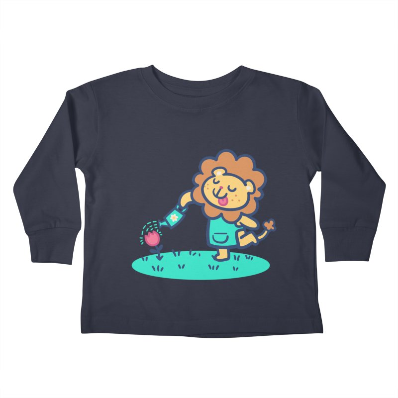 Landscaping Lion Kids Toddler Longsleeve T-Shirt by Art of Jaime Ugarte