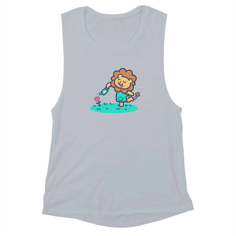 Landscaping Lion Women's Muscle Tank by Art of Jaime Ugarte