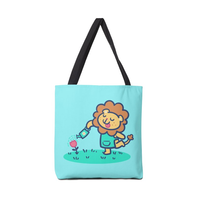 Landscaping Lion Accessories Tote Bag Bag by Art of Jaime Ugarte