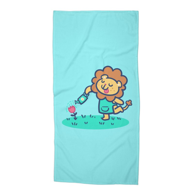 Landscaping Lion Accessories Beach Towel by Art of Jaime Ugarte