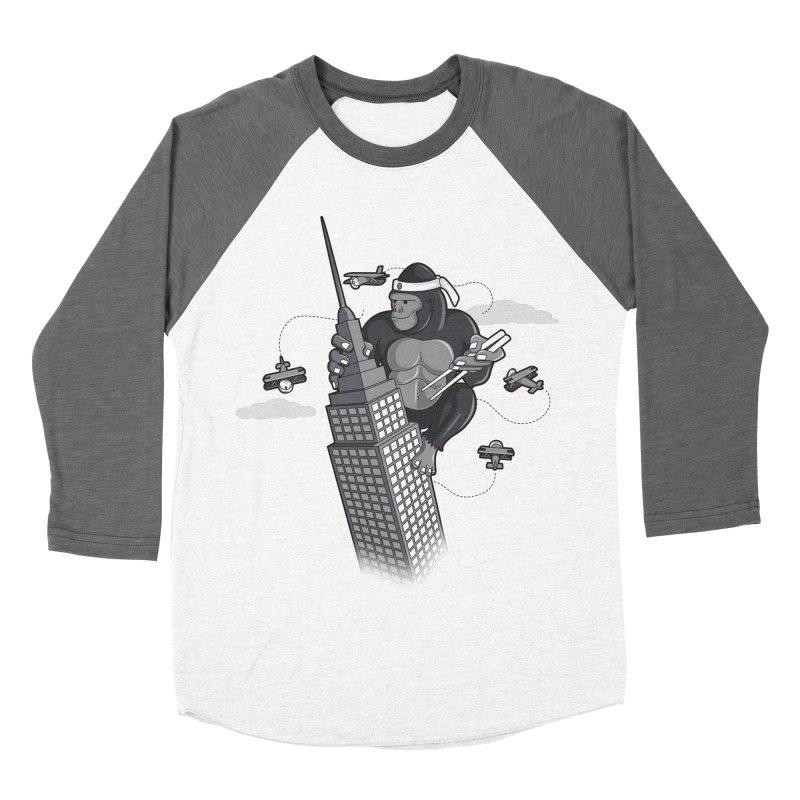 Karate Kong Men's Baseball Triblend Longsleeve T-Shirt by jair aguilar's Shop