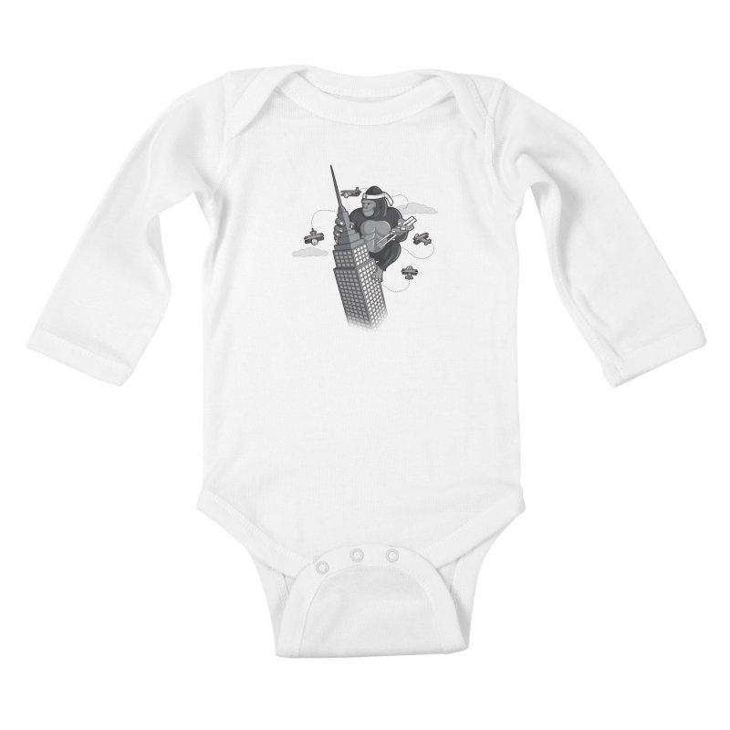 Karate Kong Kids Baby Longsleeve Bodysuit by jair aguilar's Shop