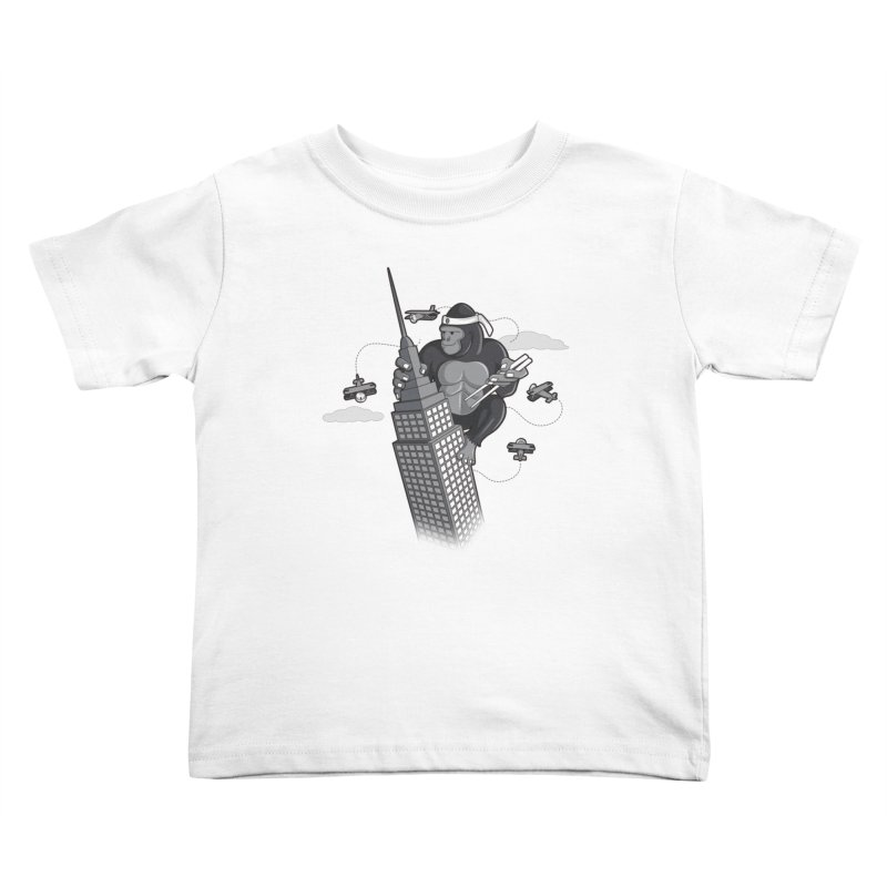 Karate Kong Kids Toddler T-Shirt by jair aguilar's Shop