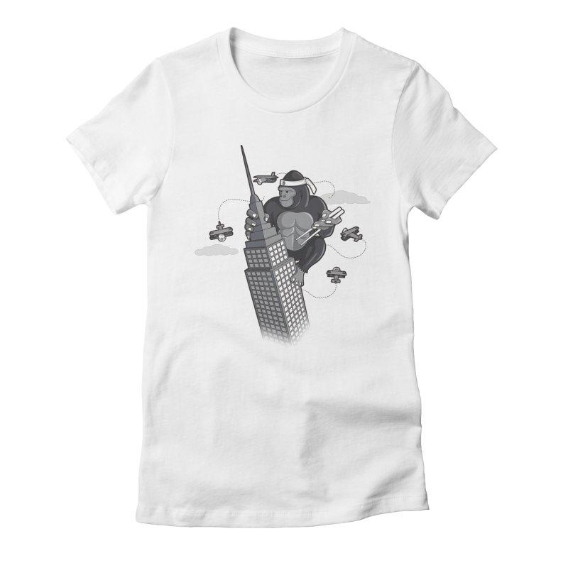 Karate Kong Women's T-Shirt by jair aguilar's Shop