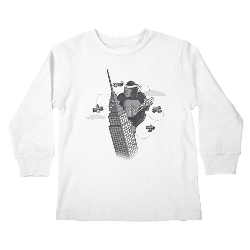 Karate Kong Kids Longsleeve T-Shirt by jair aguilar's Shop