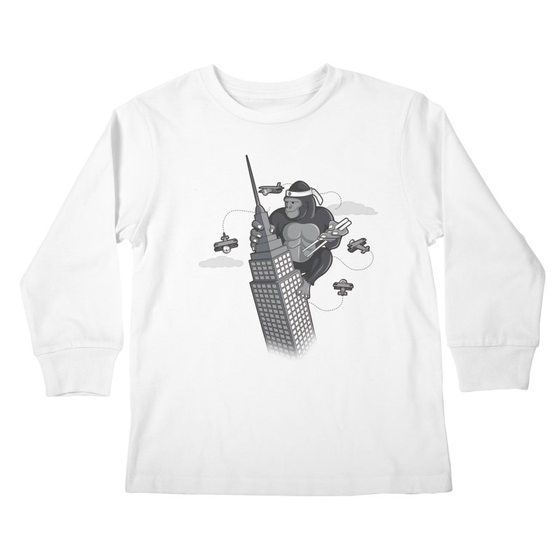 Karate Kong Kids Longsleeve T-Shirt by jair aguilar's Shop