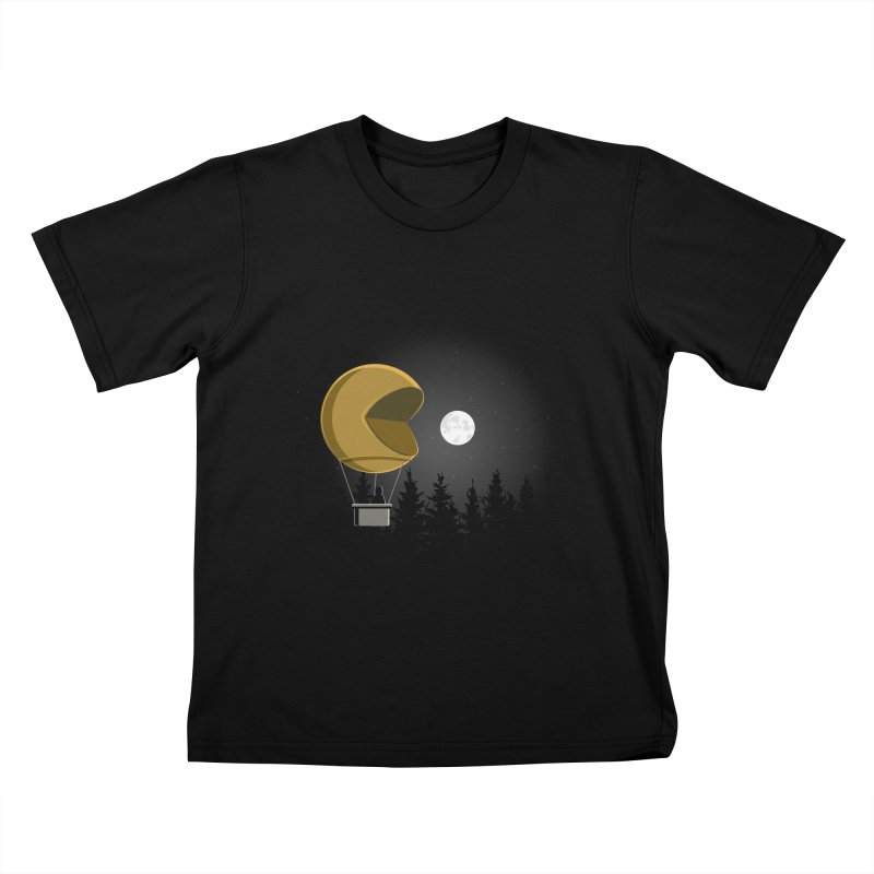 Pacmoon Kids T-Shirt by jair aguilar's Shop