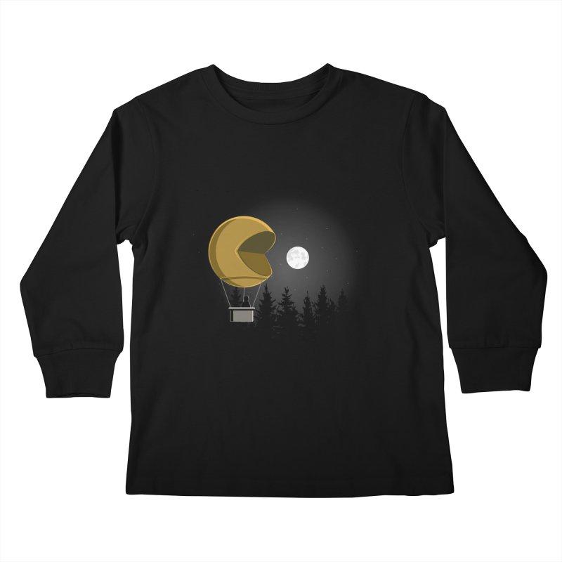 Pacmoon Kids Longsleeve T-Shirt by jair aguilar's Shop