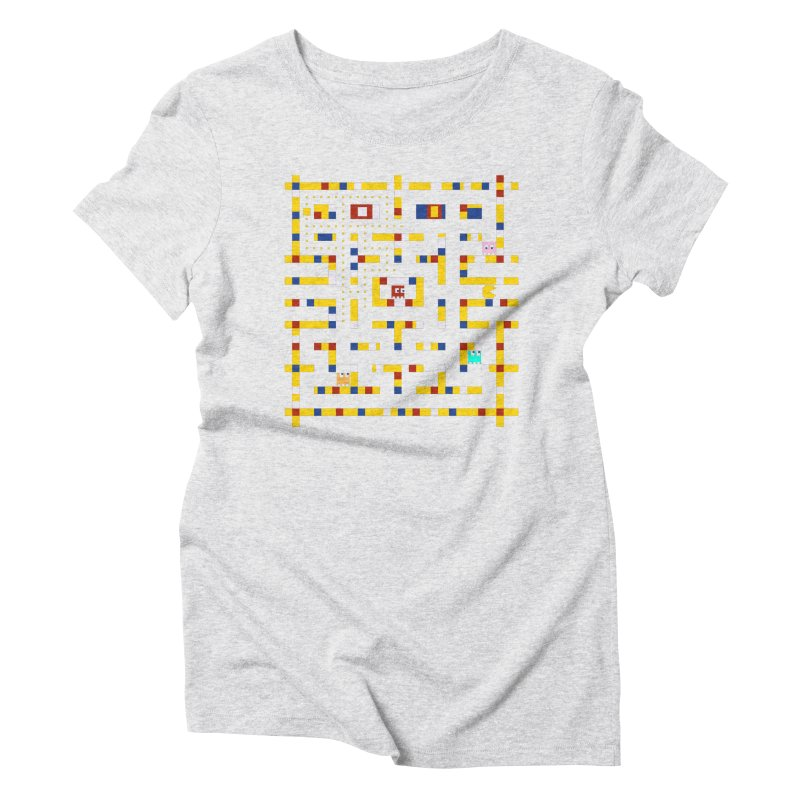 Pac-Man Boogie Woogie Women's Triblend T-Shirt by Jake Friedman